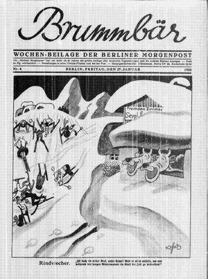 ˜Derœ Brummbär vom 27.01.1933