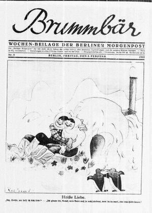 ˜Derœ Brummbär vom 03.02.1933