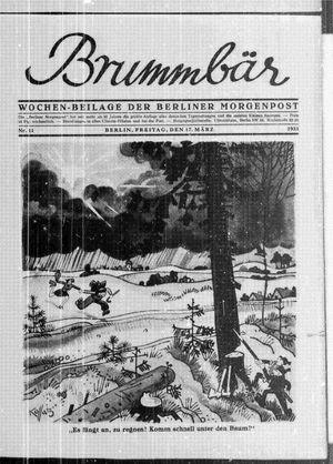 ˜Derœ Brummbär vom 17.03.1933