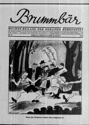˜Derœ Brummbär vom 24.03.1933