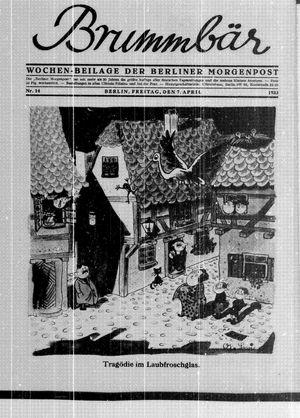 ˜Derœ Brummbär vom 07.04.1933