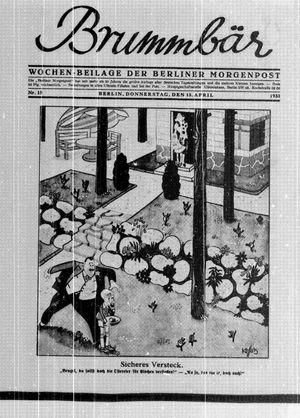 ˜Derœ Brummbär vom 13.04.1933