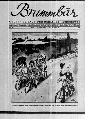 ˜Derœ Brummbär vom 21.04.1933