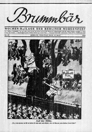 ˜Derœ Brummbär vom 12.05.1933