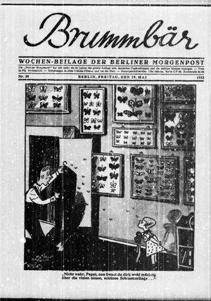 ˜Derœ Brummbär vom 19.05.1933