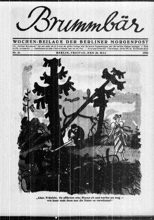 ˜Derœ Brummbär vom 26.05.1933