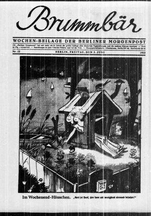 ˜Derœ Brummbär vom 02.06.1933
