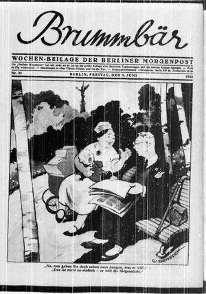˜Derœ Brummbär vom 09.06.1933