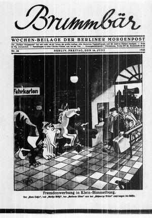 ˜Derœ Brummbär vom 16.06.1933