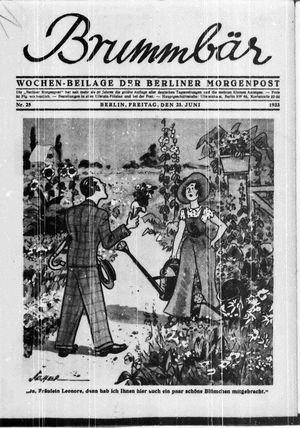 ˜Derœ Brummbär vom 23.06.1933