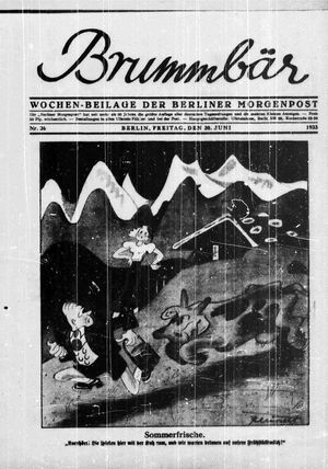 ˜Derœ Brummbär vom 30.06.1933