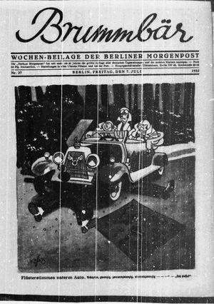 ˜Derœ Brummbär vom 07.07.1933