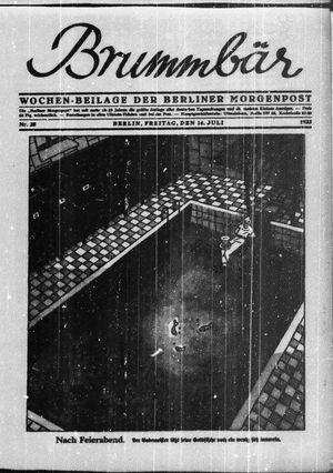 ˜Derœ Brummbär vom 14.07.1933