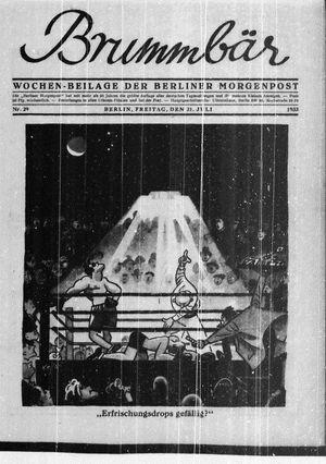 ˜Derœ Brummbär vom 21.07.1933