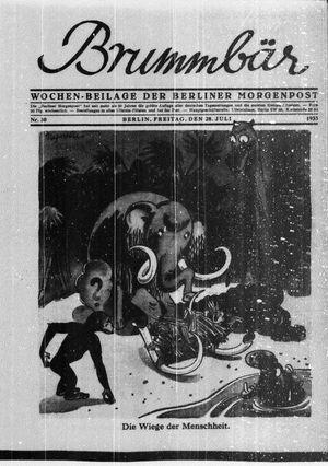 ˜Derœ Brummbär vom 28.07.1933