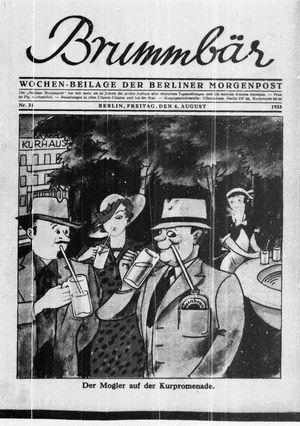 ˜Derœ Brummbär vom 04.08.1933