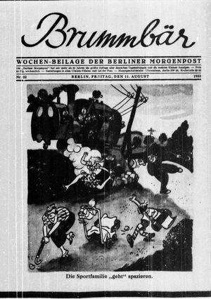 ˜Derœ Brummbär vom 11.08.1933