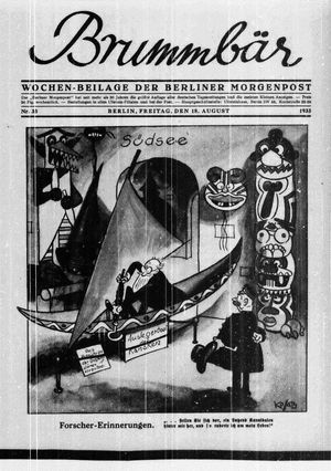 ˜Derœ Brummbär vom 18.08.1933