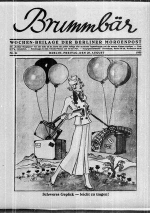 ˜Derœ Brummbär vom 25.08.1933