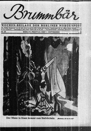 ˜Derœ Brummbär vom 01.09.1933