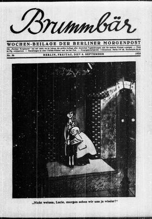 ˜Derœ Brummbär vom 08.09.1933
