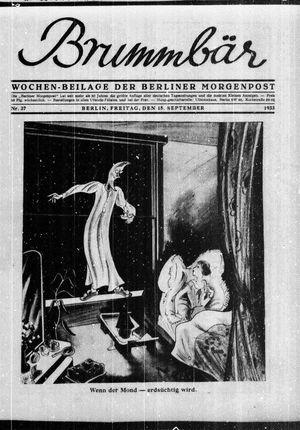 ˜Derœ Brummbär vom 15.09.1933