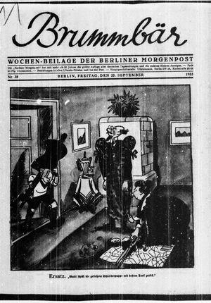 ˜Derœ Brummbär vom 22.09.1933