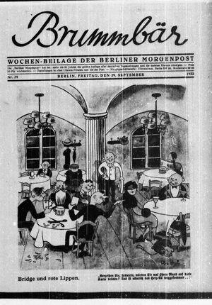 ˜Derœ Brummbär vom 29.09.1933