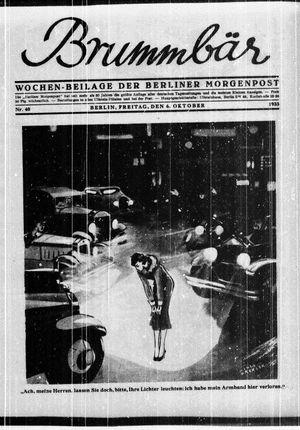 ˜Derœ Brummbär vom 06.10.1933