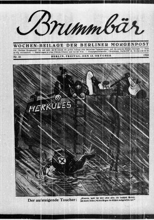 ˜Derœ Brummbär vom 13.10.1933