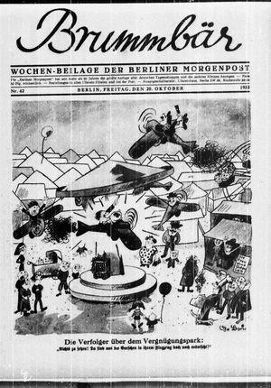˜Derœ Brummbär vom 20.10.1933
