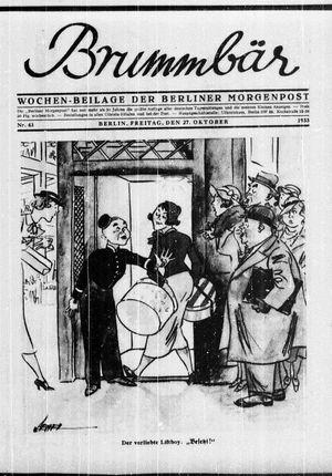˜Derœ Brummbär vom 27.10.1933