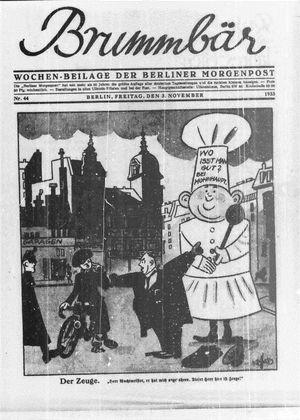 ˜Derœ Brummbär vom 03.11.1933