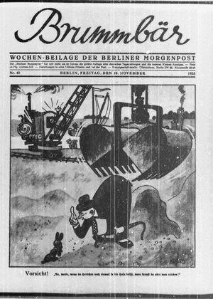 ˜Derœ Brummbär vom 10.11.1933