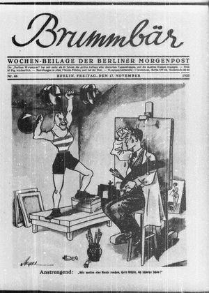 ˜Derœ Brummbär vom 17.11.1933