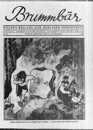˜Derœ Brummbär vom 24.11.1933