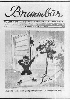 ˜Derœ Brummbär vom 08.12.1933