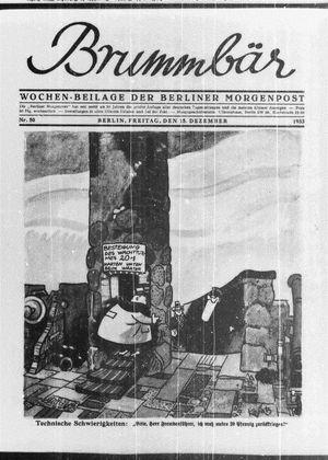 ˜Derœ Brummbär vom 15.12.1933