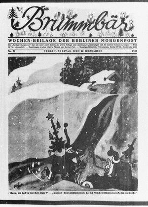 ˜Derœ Brummbär vom 22.12.1933