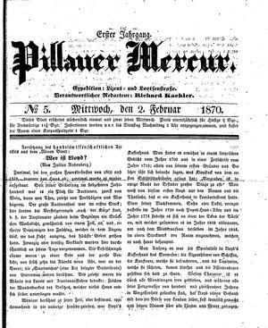 Pillauer Merkur vom 02.02.1870