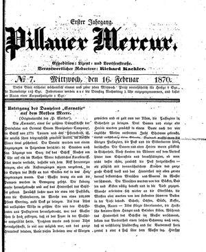 Pillauer Merkur vom 16.02.1870