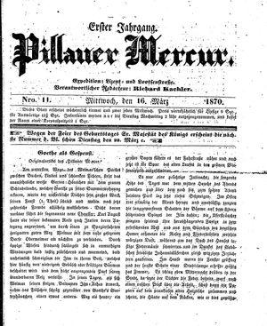 Pillauer Merkur vom 16.03.1870