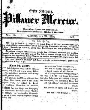 Pillauer Merkur vom 22.03.1870