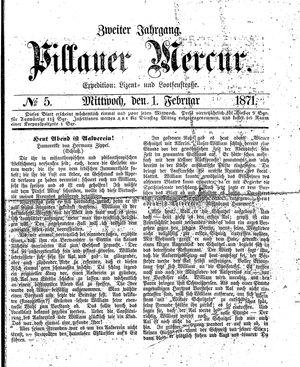 Pillauer Merkur vom 01.02.1871