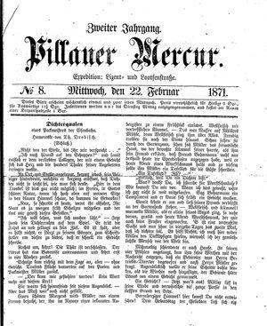 Pillauer Merkur vom 22.02.1871