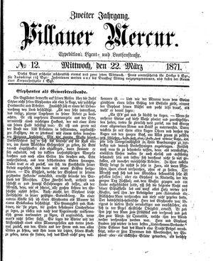 Pillauer Merkur vom 22.03.1871