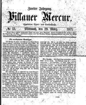 Pillauer Merkur vom 29.03.1871