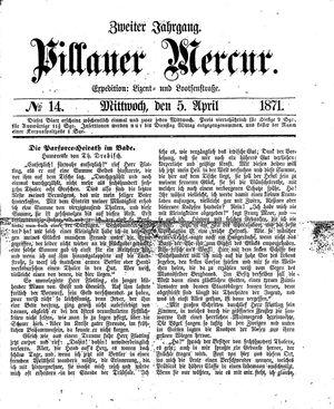 Pillauer Merkur vom 05.04.1871