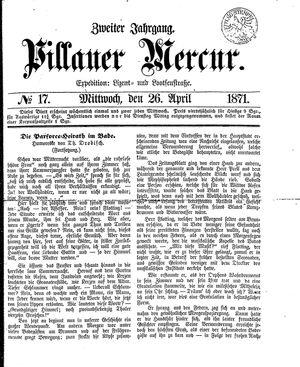 Pillauer Merkur vom 26.04.1871