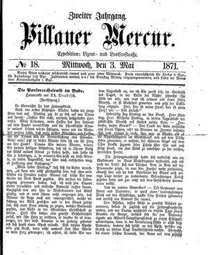 Pillauer Merkur vom 03.05.1871